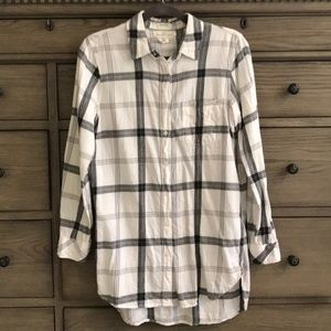 H&M Oversized Plaid Lightweight Flannel